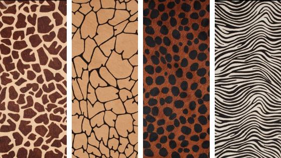 animal print leather
